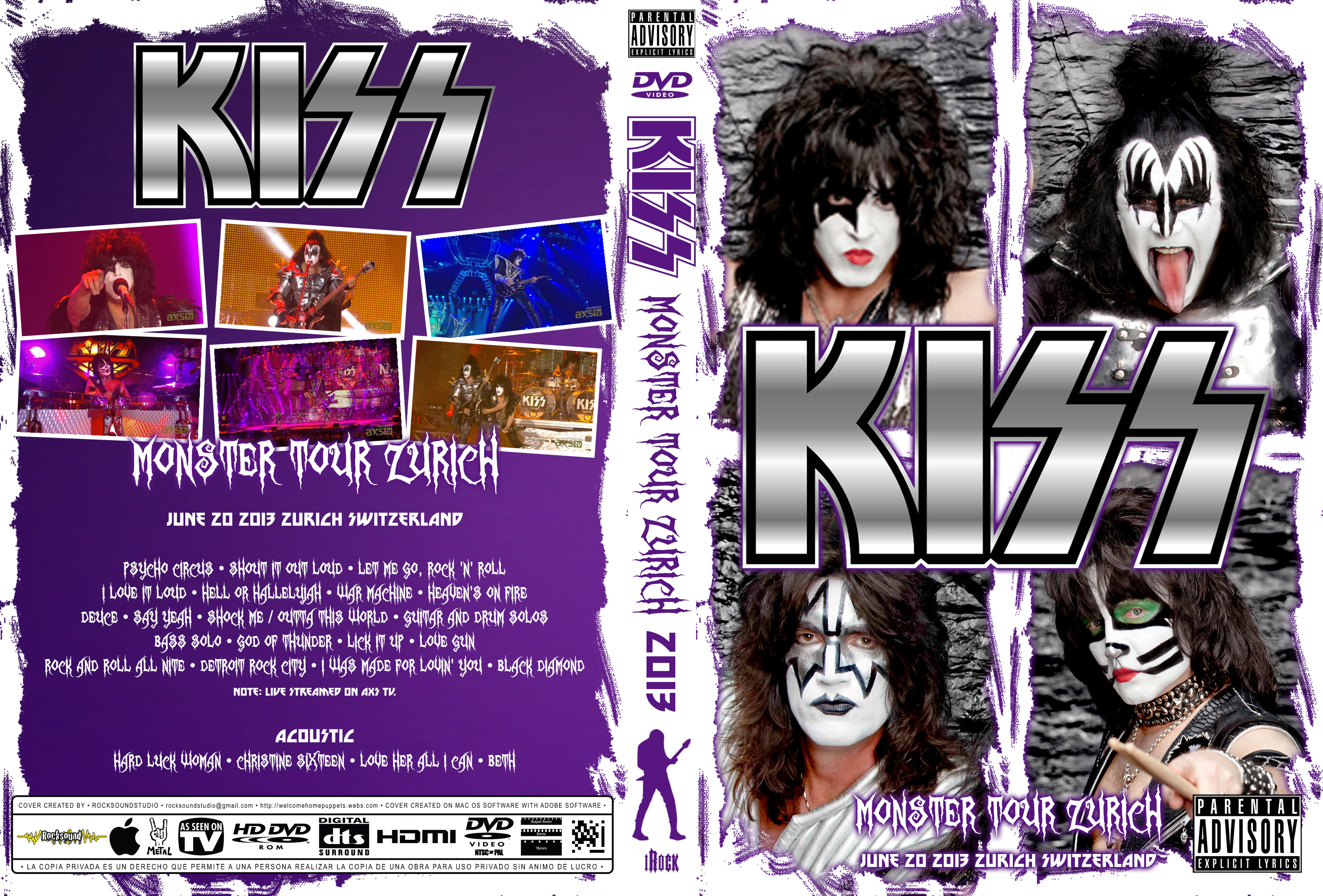 Kiss – Monster Tour: Zurich 2013 [BRRip 1080p] [Completo] [MEGA]