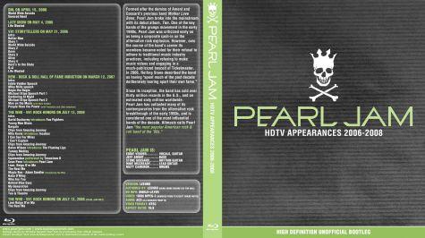 BootlegCoverArt :: Pearl Jam - PearlJam xxxx-xx-xx HDTVAppearances