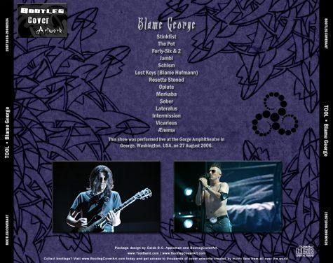 BootlegCoverArt :: Tool - Tool 2006-08-27 GeorgeWA CD 5back
